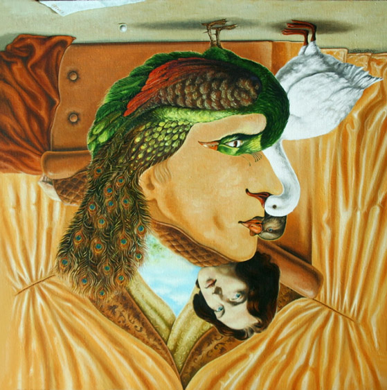 Oscar Wilde camuflado en el autorretrato de Igor Lysenko