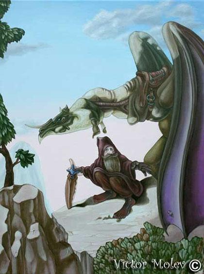 JRR Tolkien camuflado en esta imagen de Victor Molev
