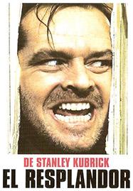 Cartel de la película El resplandor, adaptación de Kubrick de la novela de Stephen King
