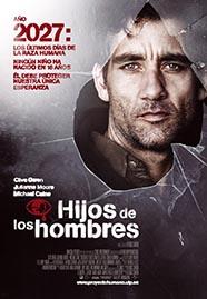 Cartel de la película Hijos de los hombres, basada en la novela de PD James