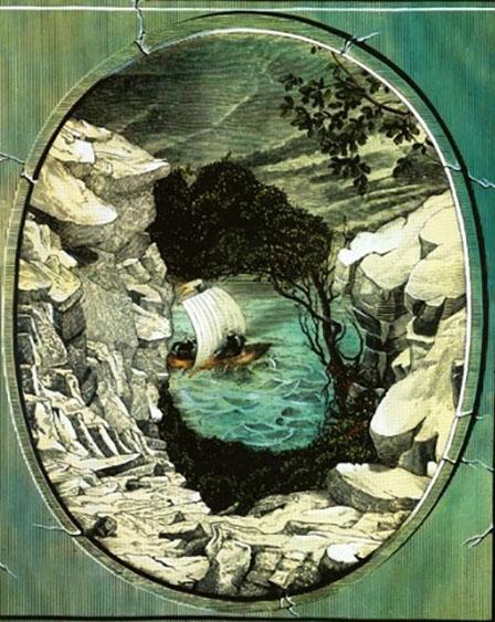 Retrato camuflado de Julio Verne, creado por István Orosz