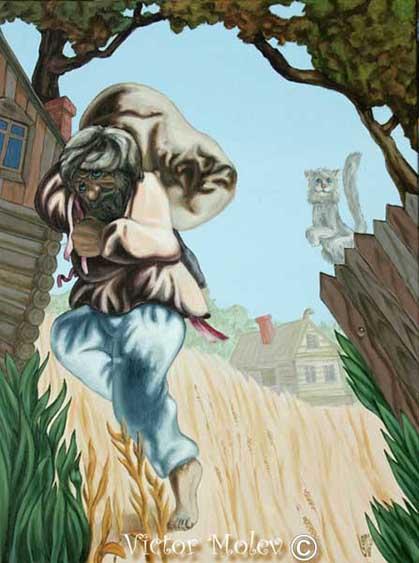 León Tolstói camuflado en una ilusión de Victor Molev