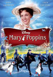 Cartel de la película Mary Poppins, adaptación de la novela de PL Travers