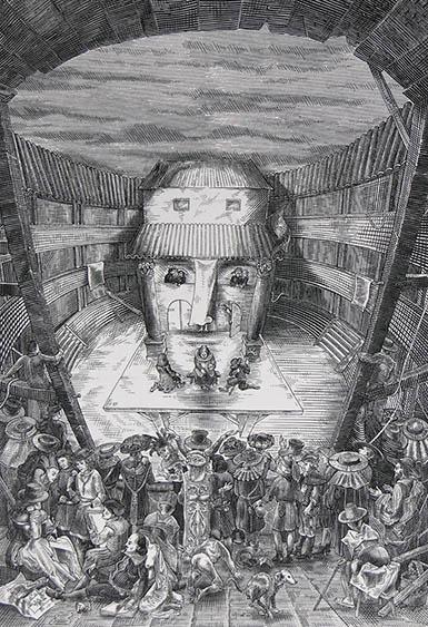 Shakespeare camuflado en esta ilustración de István Orosz