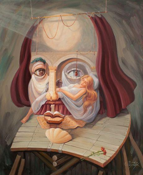 Ilusión óptica de Shakespeare creada por Oleg Shuplyak