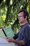 Marc Roger en una de sus lecturas públicas