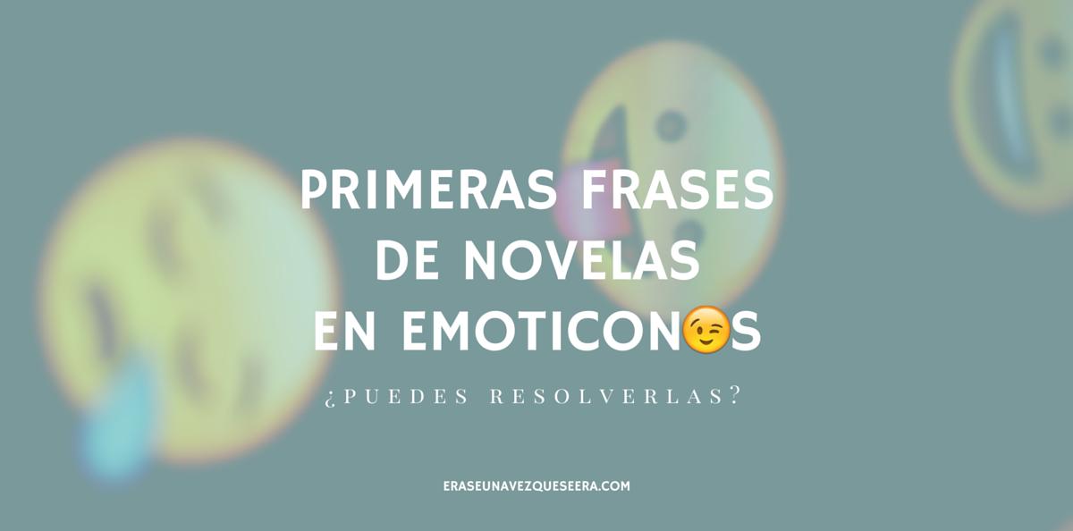 Primeras frases de novelas convertidas en emoticonos