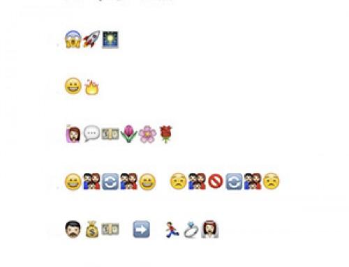 Primeras frases de novelas en emoticonos de WhatsApp