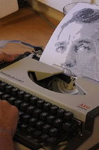 retratos mecanografiados de escritores destacado