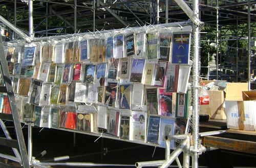 Detalle de la Torre de Babel de Libros