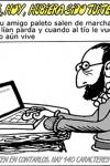 Genial viñeta de Forges sobre un Cervantes tuitero