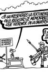 Viñeta de Forges donde Don Quijote se enfrenta a problemas con la Administración