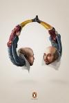 William Shakespeare convertido en unos cascos en esta campaña para audiolibros