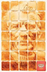 Samuel Becket en un anuncio de pan