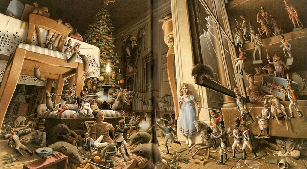 El cascanueces ilustración de Roberto Innocenti