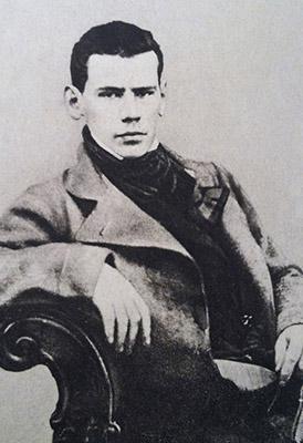 León Tolstói con 20 años