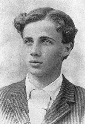 Robert Frost cuando era adolescente