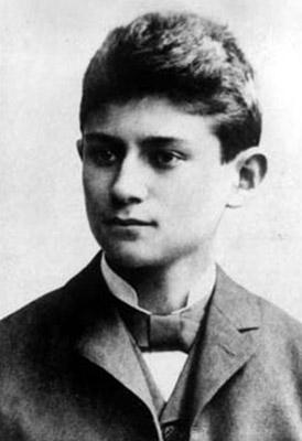 Franz Kafka con 18 años