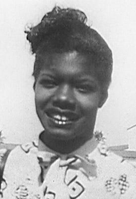 Maya Angelou cuando era adolescente