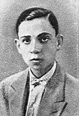 Miguel Hernádez cuando era un adolescente