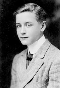 F. Scott Fitzgerald cuando era adolescente