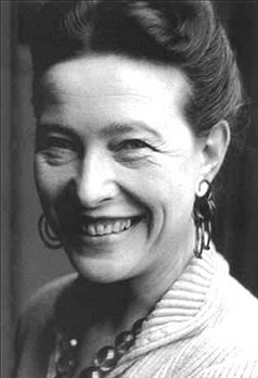 La autora francesa Simone de Beauvoir