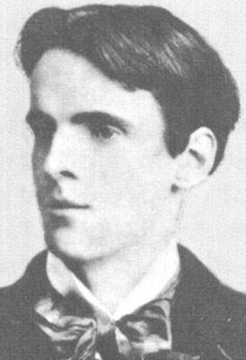 William Butler Yeats cuando era adolescente