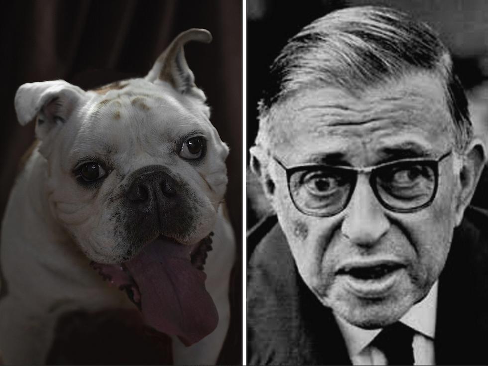 Jean-Paul Sartre y su doble canino