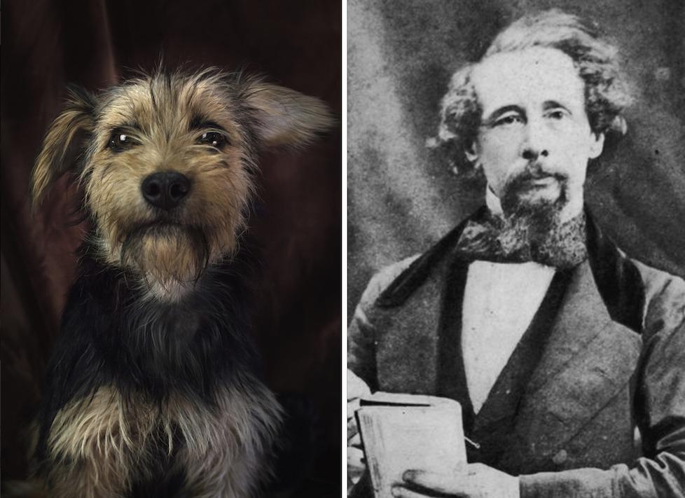 Charles Dickens y el perro imitador