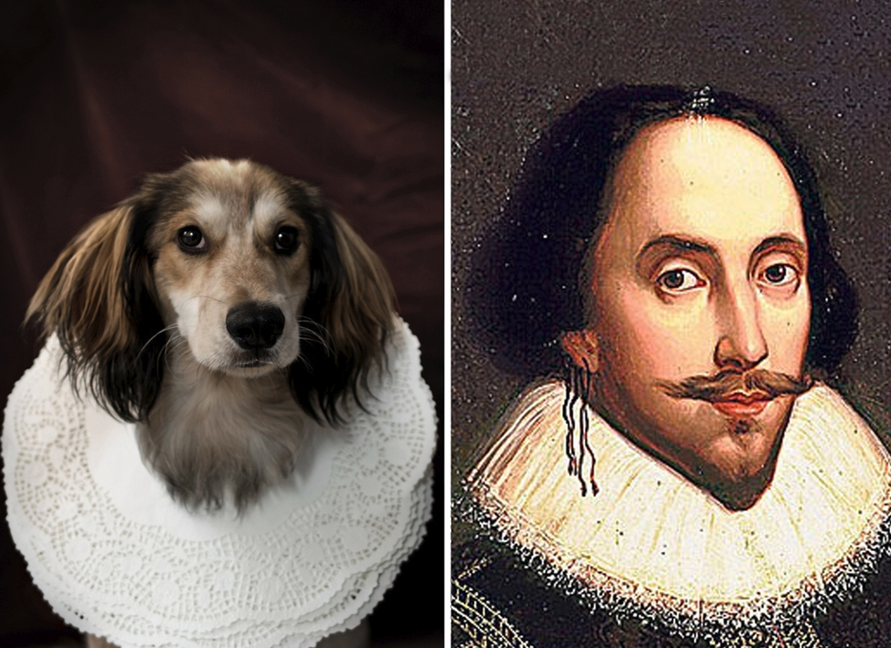 William Shakespeare y su doble perruno