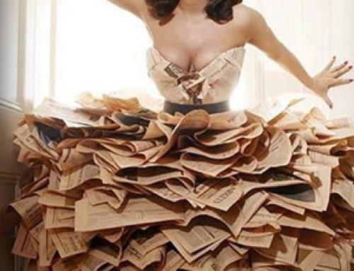 20 espectaculares vestidos hechos con libros