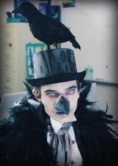 Disfraz de Nevermore, de Edgar Allan Poe