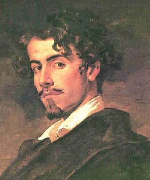 Gustavo Adolfo Bécquer retratado por su hermano Valeriano Bécquer