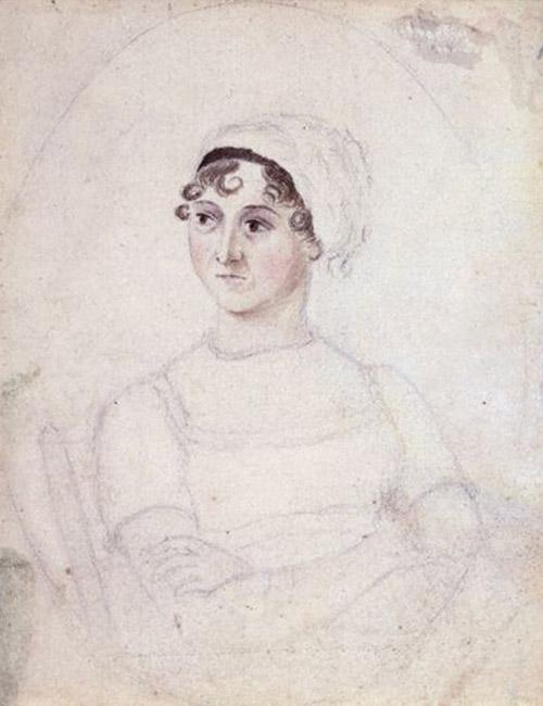 El único retrato original de Jane Austen, realizado por su hermana Cassandra Austen