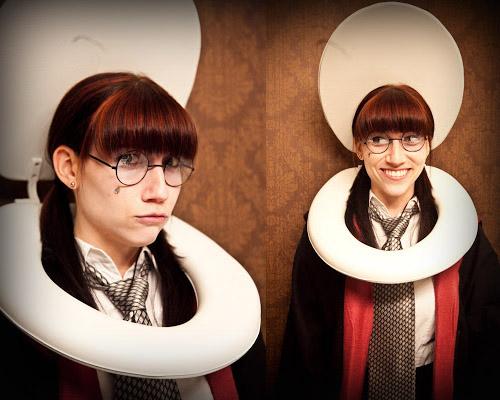 Disfraz de Myrtle la Llorona, de Harry Potter