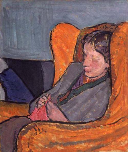 Virginia Woolf en un retrato realizado por su hermana Vanessa Bell