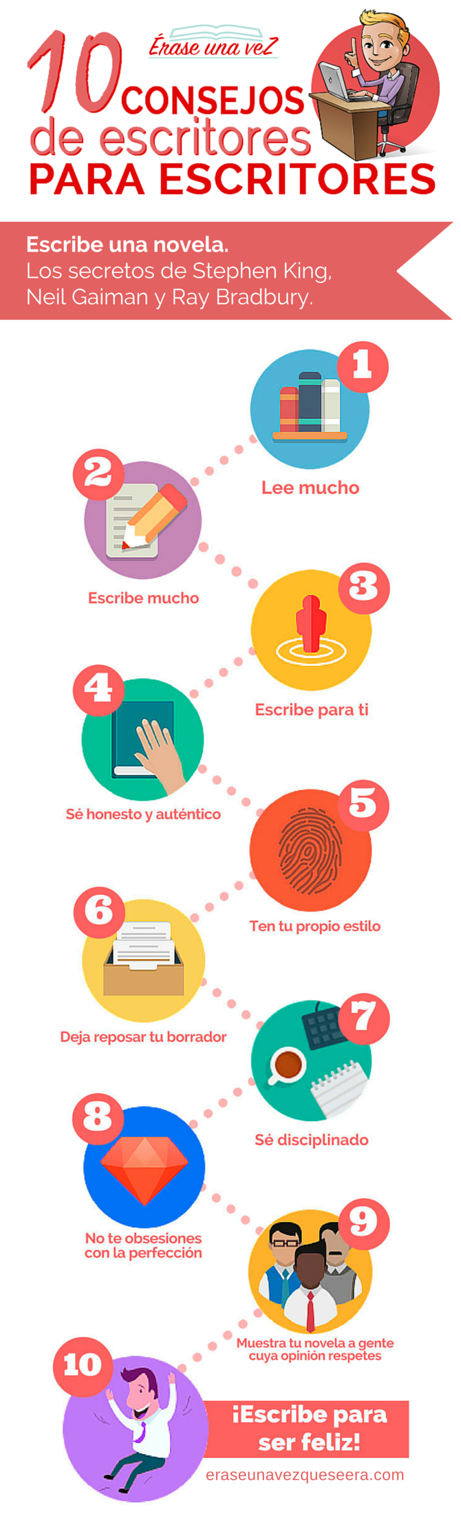 Infografía: 10 consejos de escritores para escritores