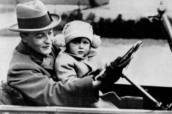 "Frances Scott Fitzgerald, ""Scottie"", con su padre Francis S. Fitzgerald"