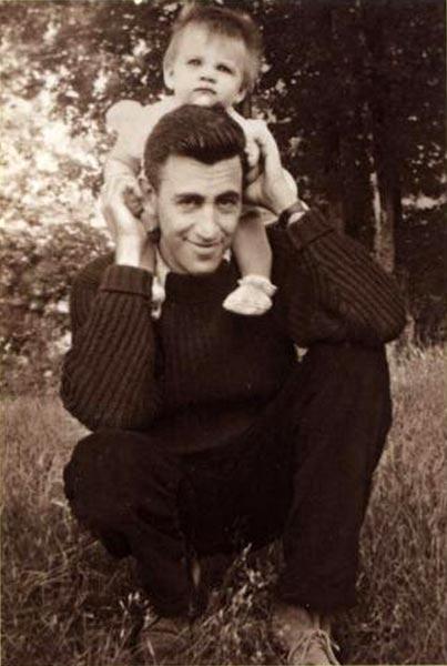 JD Salinger con su hija Margaret Salinger