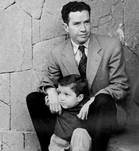 Juan Rulfo y su hijo Juan Francisco