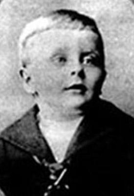 Francis Scott Fitzgerald cuando era casi un bebé