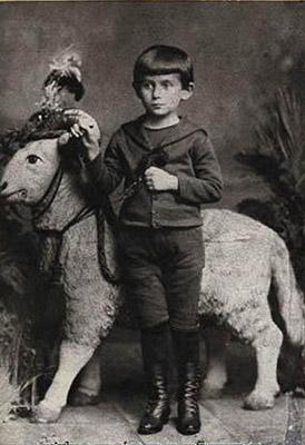 Franz Kafka con 5 años