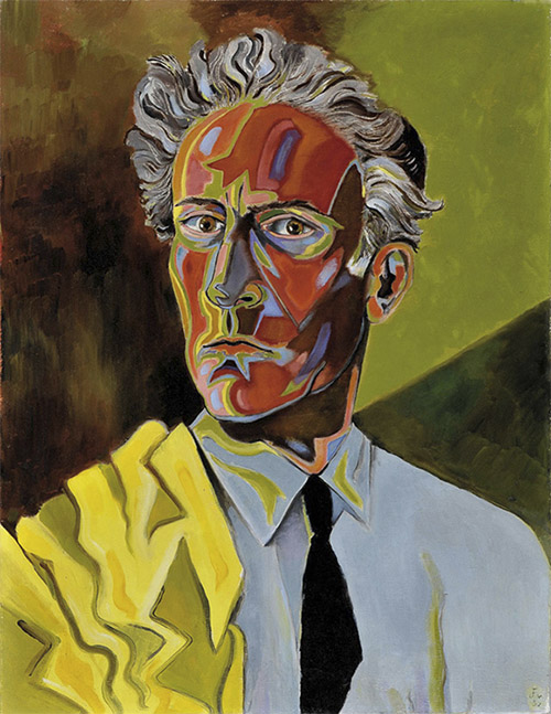 Autorretrato de Jean Cocteau