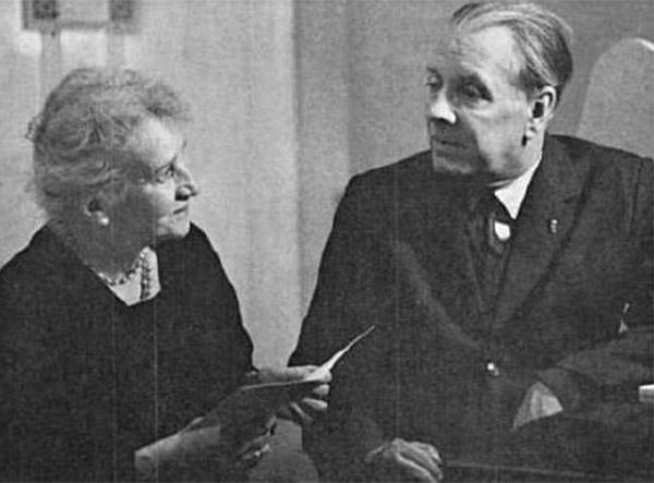Jorge Luis Borges con su madre