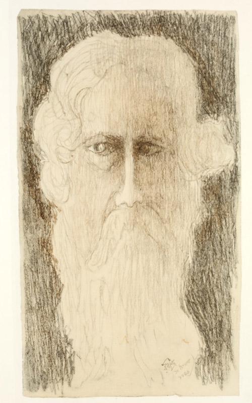 Rabindranath Tagore, autorretrato.