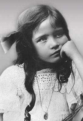 Simone de Beauvoir cuando era una niña