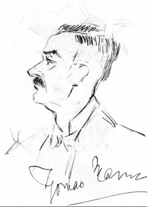 Autorretrato de Thomas Mann