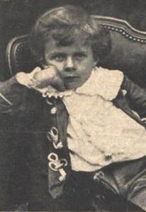 Aldous Huxley cuando era un niño