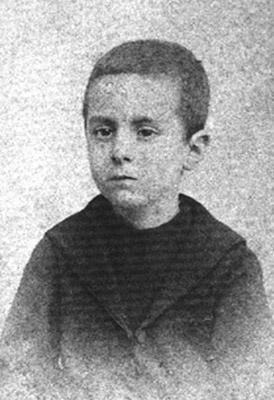 El escritor portugués Fernando Pessoa cuando era un niño