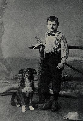 Jack London con nueve años
